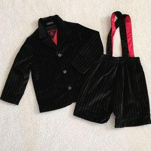 Tommy Hilfiger Boy Suit Size 4 T Black W/ Stripes